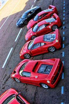 Shot of the Day // Ferrari // Ladies in Red | crankandpiston.com Car Culture Lifestyle