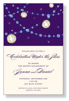 Night Lanterns Invitation
