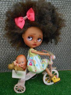 Vlastní Tan Blythe Doll
