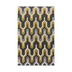 Inject your home with a color combination that will never go out of style. The gray and yellow geometric designs on this stylish rug will keep you dancing all night long.
