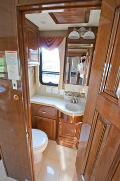 bathroom of the newmar essex rv amazing interiors pinterest
