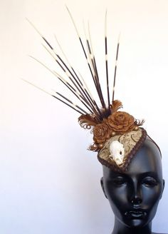 RESERVED Porcupine & Animal Skull Headpiece by MissGDesignsShop, $150.00