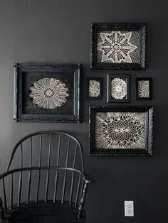 Shadow box or frame a sentimental doily