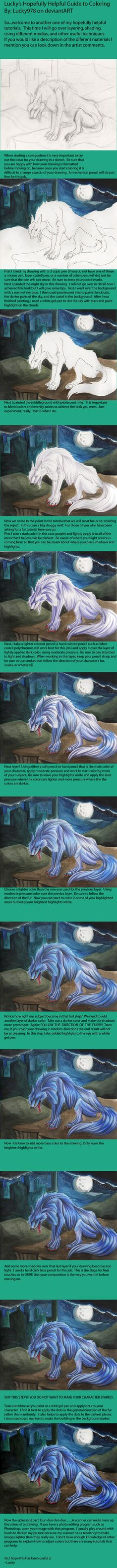 Wolf Coloring Tutorial by Lucky978 on DeviantArt