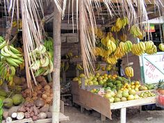 Jamaican fruit stand (my own photo)