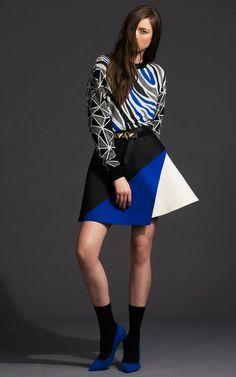 【Fausto Puglisi】Embossed Three Layer Skirt $1,900