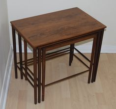 A Rare Set Of Nesting Tables By Grete Jalk For P. Jeppesen In Rosewood.