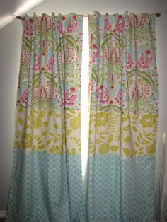 Triple Fabric Curtains!  might do in Myra's big girl room