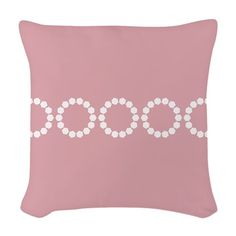 Divine Retro Classic Girly Pink Woven Throw Pillow $24.99