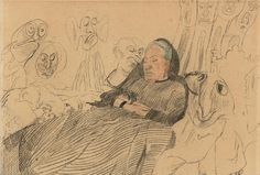there-was-a-monster-in-my-bed:  James Ensor - My Aunt Asleep Dreaming of Monsters (1888)