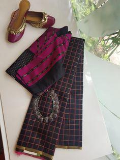 Cotton Saree Blouse, Saree Blouse Neck Designs, Saree Blouse Patterns, Skirt Patterns, Coat Patterns, Sewing Patterns, Simple Blouse Designs, Stylish Blouse Design, Saree Models