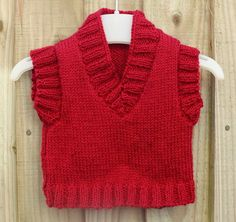 Hand Knitted Tank Top 0-3 Months Size £12.00