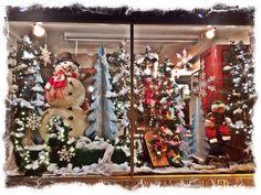 Christmas windows in Hammonton New Jersey.