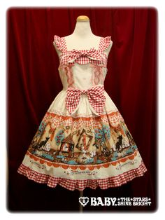 baby, the stars shine bright My Little Red Riding Hood Gingham JSK