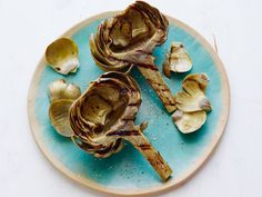 Grill-Friendly Vegetables  Artichokes  They take a while on the grill, so boil or steam them most of the way first (this can also be done the night before), then halve or quarter them and grill on medium until the leaves are wilted and the heart has grill marks, about 10 minutes. Frozen (thawed) hearts work nicely too.