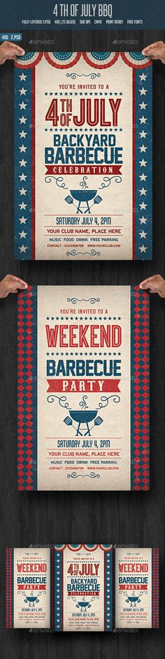 4th July BBQ Flyer - Events Flyers