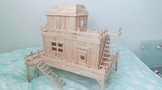 Popsicle Stick House - Hamster Central