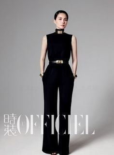 Chinese pop singer Faye Wong posed rather casually on L'Officiel magazine. Faye Wong, Measure Ring Size, Ring Size Guide, Pop Singers, Ideias Fashion, Jumpsuit, Poses, Style Inspiration, Female