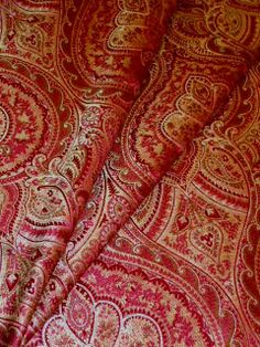 P Kaufmann Fabric Pattern Euphrates color Currant see at http://store.schindlersfabrics.com/pkaeucocu.html  Woven Upholstery and home decorating fabric, large Damask crest design, golden brown on red  #PKaufmannfabric #Upholsteryfabric #Homedecor #Interiordesigning #ColorCurrant #fabric