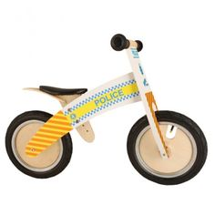 Police Balance Bike - Balance bike with a police theme to help develop children's balance and coordination. Balance bikes are a child's first chance to learn cycle skills before they move on to a pedal bicycle building confidence as they go.  • Seat H 370 adjustable to 395 mm • Handlebar H 525mm