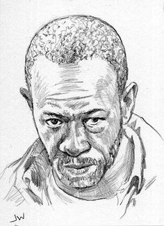 Morgan From The Walking Dead ACEO Sketch Card by Jeff Ward #thewalkingdead #morgan #sketchcard #aceo