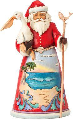 Jim Shore Beach Santa Making Waves Collectible Figurine