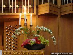 Daum 블로그 - 이미지 원본보기 Altar Flowers, Church Flowers, Table Flowers, Flower Arrangements, Plants, Etsy, Floral Arrangements, Flower Designs, Alter Flowers