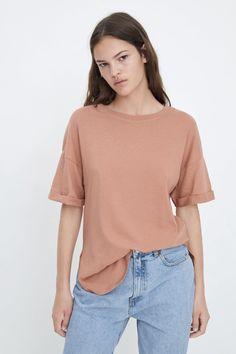 OVERSIZED T - SHIRT-T-SHIRTS-WOMAN | ZARA Australia Zara Australia, Woman, Sleeves, Model, T Shirt, Tops, Fashion, Supreme T Shirt, Moda