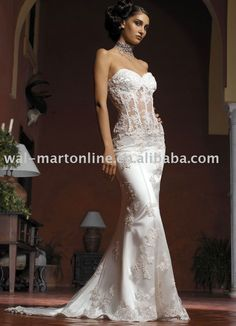 Aliexpress.com : Buy Free Shipping Vintage Sweetheart White Organza See through Mermaid Wedding Dress Train Sexy Lace Bridal Gown EU043 from Reliable bridal mermaid gowns suppliers on ANTS Wedding Evening Dress Co., Ltd $173.99