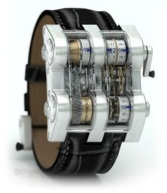 Cabestan Winch Tourbillion Vertical. This is not just an unique  luxury watches, but an artwork from 1352 parts from nickel and silver. The basic model will cost you $ 275,000, also there are variants from platinum with diamonds – it is approximately $ 400,000