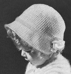 INSTANT DOWNLOAD 1935 Baby Poke Bonnet Vintage Crochet by annalaia, $3.95
