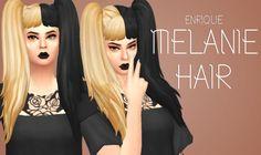 Sims 4 CC's - The Best: Melanie Hair by Enrique