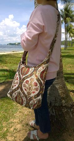 Bohemian Crossbody Bag Now Available at PASABOHO. Handmade with Silk ... eb0f0c7f87cf2