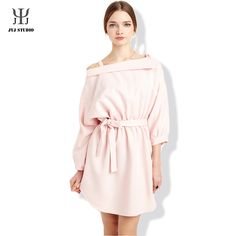 Aliexpress.com : Buy Institute Wind Cute Sweet One piece Dress For Women Straight Collar Pink Three Quarter Sleeve Polyester Strapless With Belt from Reliable dress middleton suppliers on JYJ STUDIO