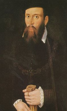 A detail of a portrait of Jane's tempestuous brother Thomas Seymour.     Thomas had plotted to wed the Princess Elizabeth Tudor while he was still married to her step-mother, Queen Katherine Parr.     Sharing the same fate of his brother, Edward, Duke of Somerset, Thomas went to the block for treason in 1549.