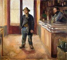 Edvard Munch  1890 in the bar