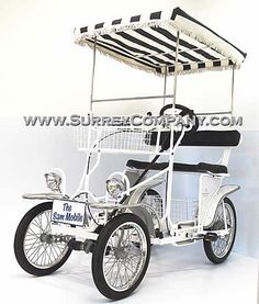 4 Wheel Bicycle Quadricycle- Great for a stroll in the park. I kinda want this over a car...