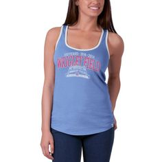 Chicago Cubs Wrigley Field 100 Years Periwinkle Headway Tank Top by '47 Brand | SportsWorldChicago.com  #ChicagoCubs @cubsbaseball