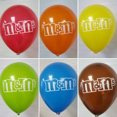 M&M Customized Balloons fresh off the machine...Love Them!!