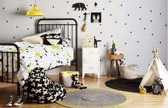 Que tal assim: preto + branco + sua cor favorita?