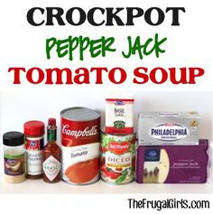 Crockpot Pepper Jack Tomato Soup Recipe! ~ from TheFrugalGirls.com ~ your tastebuds will go crazy for this... it's so easy to make and the most delicious Slow Cooker Soup ever! #slowcooker #soups #recipes #thefrugalgirls