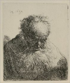 An Old Man with a Large Beard - Rembrandt