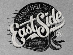 East Side - Tee Design by Derrick Castle
