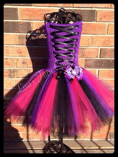 Another monster high tutu corset dress. Available to a girls 10. Price varies by size.  Lisastutus.etsy.com Facebook.com/tutusbylisa