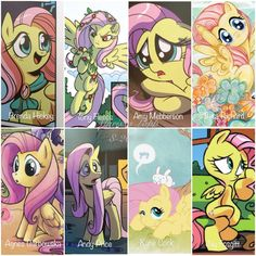 I made a collage of all the artist and illustrators and their drawing styles of the My little pony IDW comics