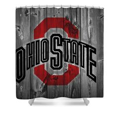 Ohio State University Shower Curtain by Dan Sproul. This shower curtain is made from polyester fabric and includes 12 holes at the top of the curtain for simple hanging. The total dimensions of the shower curtain are wide x tall. Ohio State Game, Ohio State Football, University Of Cincinnati, Ohio State University, Ohio State Canvas, Ohio State Pictures, Ohio State Wallpaper, Buckeye Crafts, Game Day Quotes
