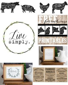 An entire set of various farmhouse Printables for your home! You can use them all over your home for various farmhouse touches and the best part is they are FREE! If you love farmhouse cottage industrial decor this is the perfect set of Printables for yo Farmhouse Design, Farmhouse Decor, Modern Farmhouse, Farmhouse Style, Decorating Your Home, Diy Home Decor, Vintage Industrial Decor, Industrial Interiors, Industrial Office