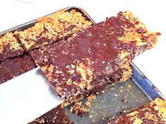 Homemade protein flapjacks are ready!