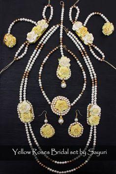 haldi yellow flower jewellery
