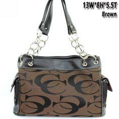 $35.99Amazon.com: Signature Jacquard Cleto Fashion Shoulder Handbag Purses in Brown: Clothing